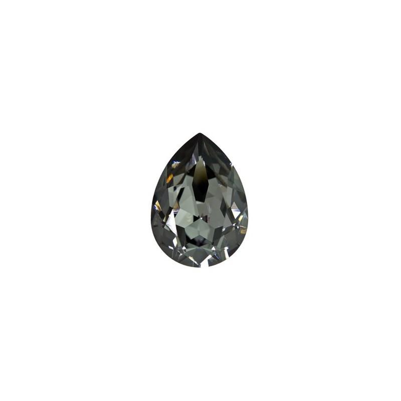 18x13mm Crystal Silver Night F (001 SINI) Pear-Shaped Fancy Stone 4320 Swarovski Elements