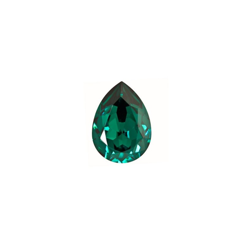 18x13mm Emerald F (205) Pear-Shaped Fancy Stone 4320 Swarovski Elements
