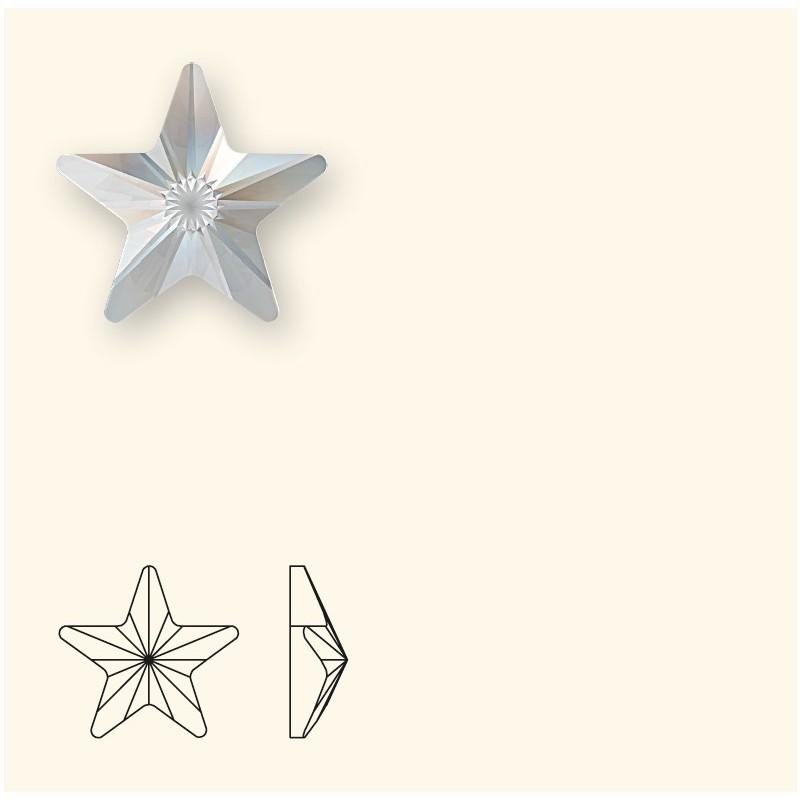 5MM Crystal F (001) 2816 Rivoli Star SWAROVSKI ELEMENTS