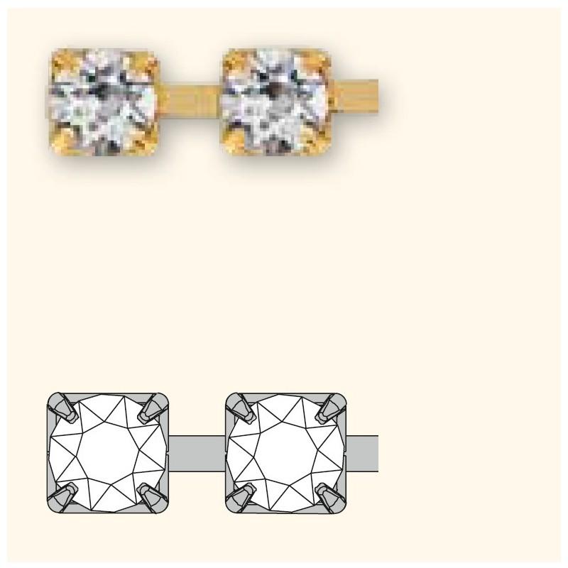 PP14(~ 2.2mm) Sterling Hõbega pinnatud kristall F Swarovski Elements kett