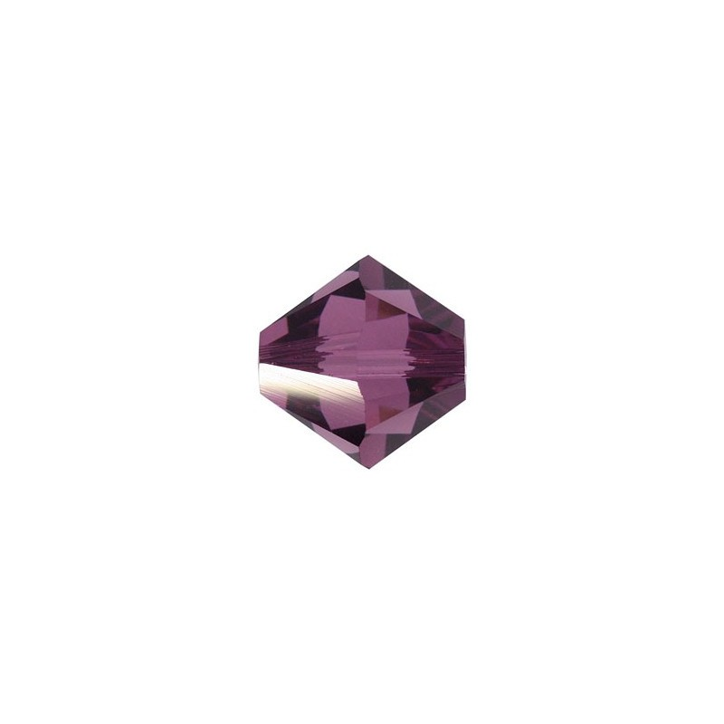 3MM Amethyst (204) 5328 XILION Bi-Cone Beads SWAROVSKI ELEMENTS