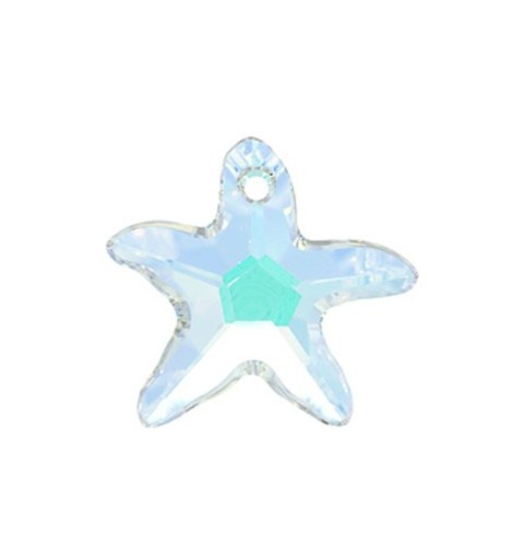 28MM Crystal AB (001 AB) Starfish Ripatsid 6721 SWAROVSKI ELEMENTS