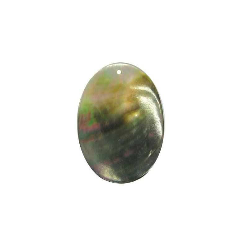 45x30mm Pärlmutter ripats - ovaalne