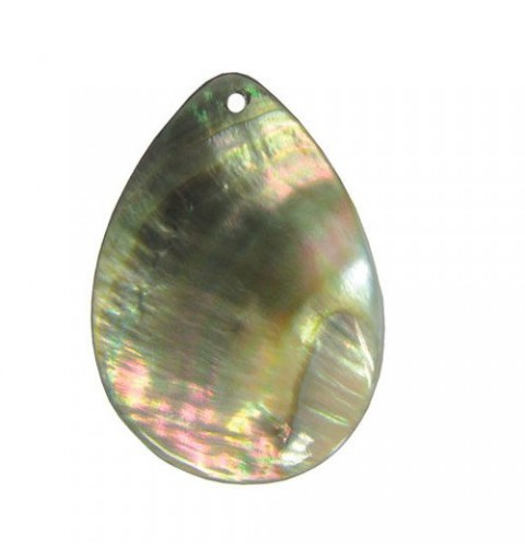 45x30mm Pendant nacreous from shell teardrop-shaped