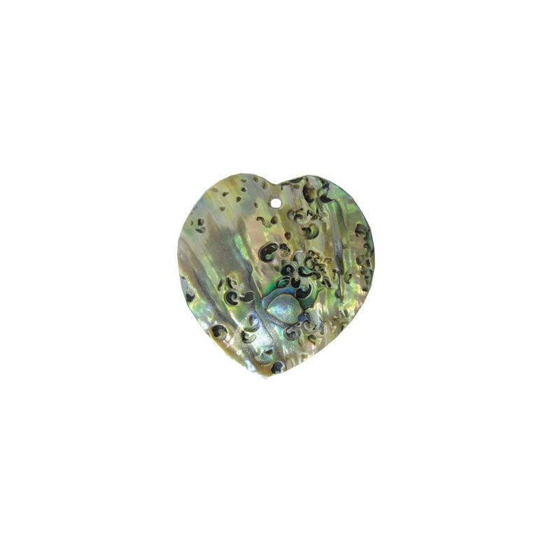 35x35mm Кулон перламутровый из ракушки в виде сердечка