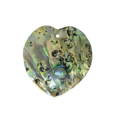 35x35mm Pendant heart-shaped nacreous from shell