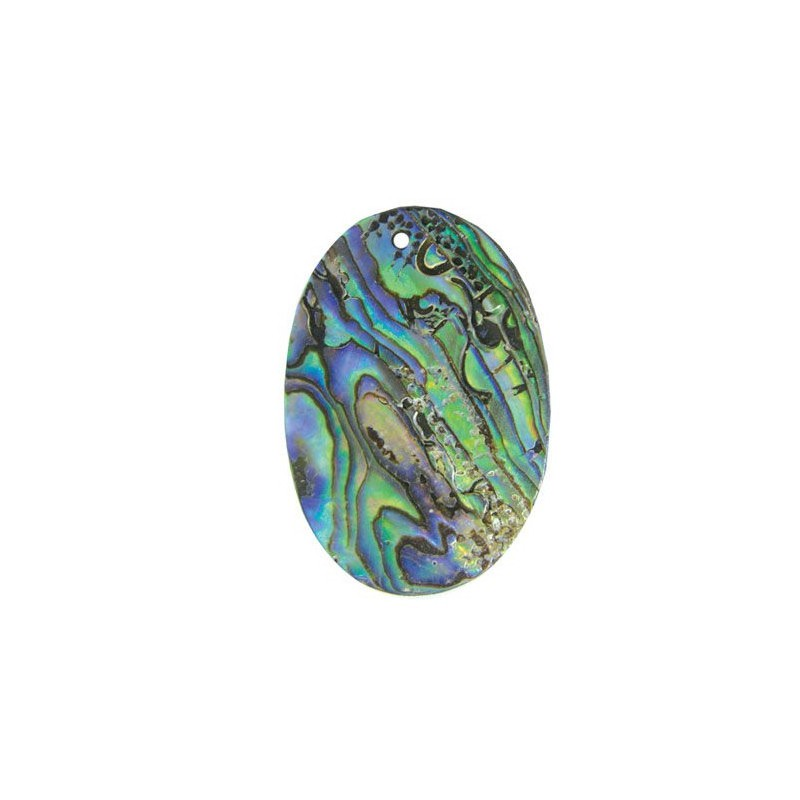 45x30mm Pendant nacreous from shell - oval