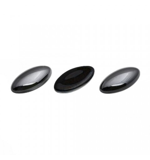 20x10mm Cabochon navette black platinum coating