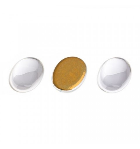 25x18mm Cabochon oval clear crystal