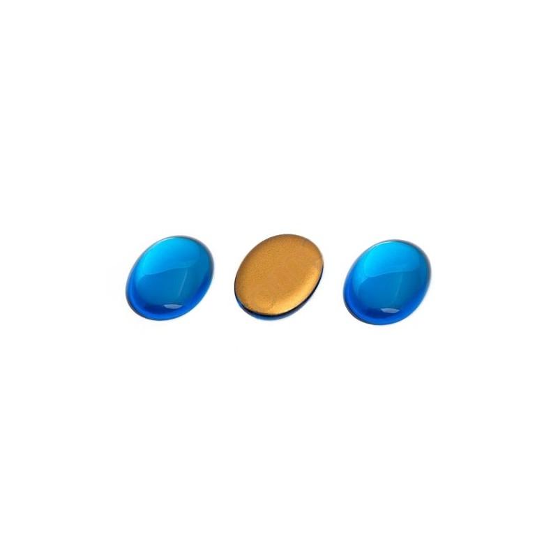 25x18mm Cabochon oval blue