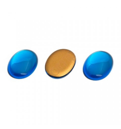 25x18mm Cabochon oval blue