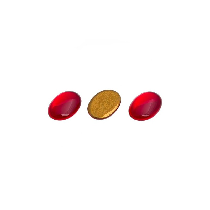 25x18mm Cabochon oval red