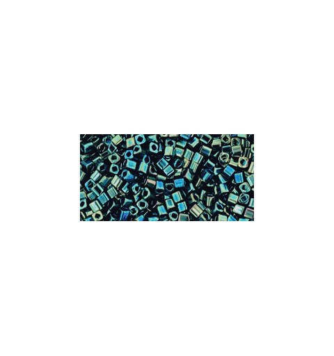TC-01-84 Metallic Iris Green/Brown 1.5mm TOHO cube seemnehelmeid