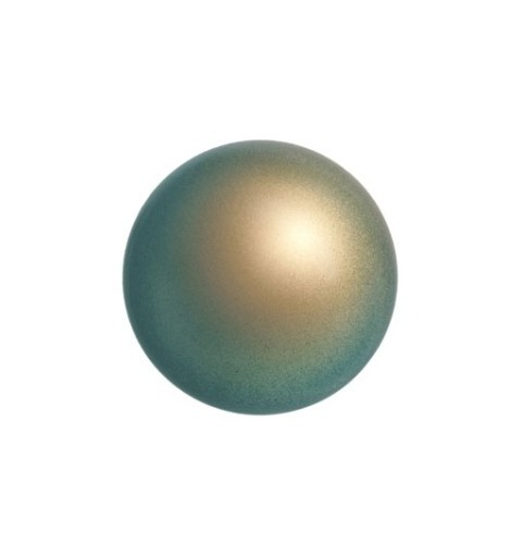 12MM Crystal Iridescent Green Pearl (001 930) Large Hole 5811 SWAROVSKI ELEMENTS