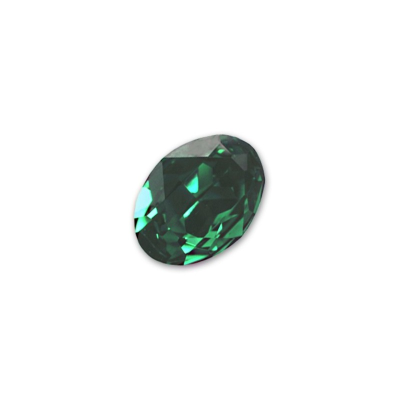 18x13mm Emerald F (205) Oval Fancy Stone 4120 Swarovski Elements