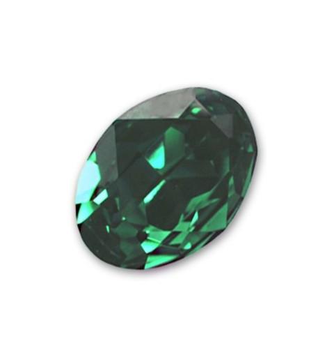 14x10mm Emerald F (205) Oval Fancy Stone 4120 Swarovski Elements