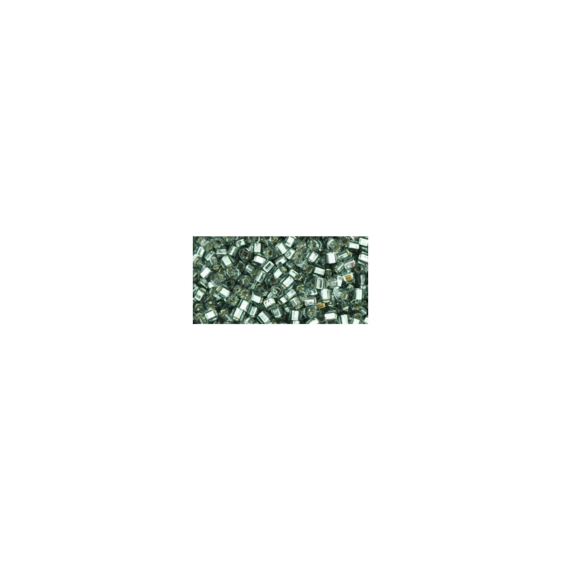 TC-01-29B Silver-Lined Gray seed beads