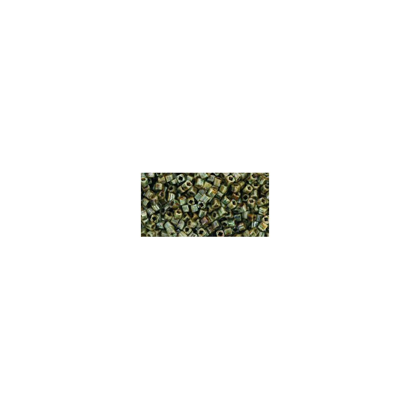 TC-01-Y183 HYBRID Opaque - Ultra Luster Green seed beads