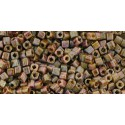 TC-01-Y185 HYBRID - Luster - Opaque Gold/Smoky Topaz seed beads