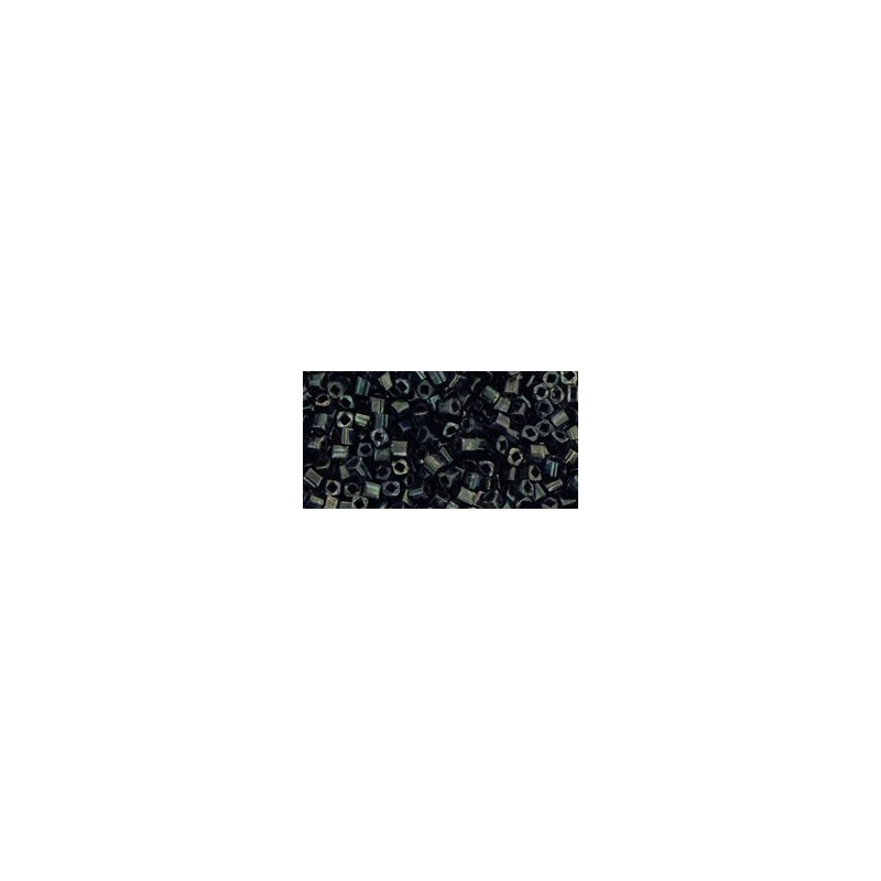 TC-01-Y503 HYBRID Antiqued Metallic Black seed beads