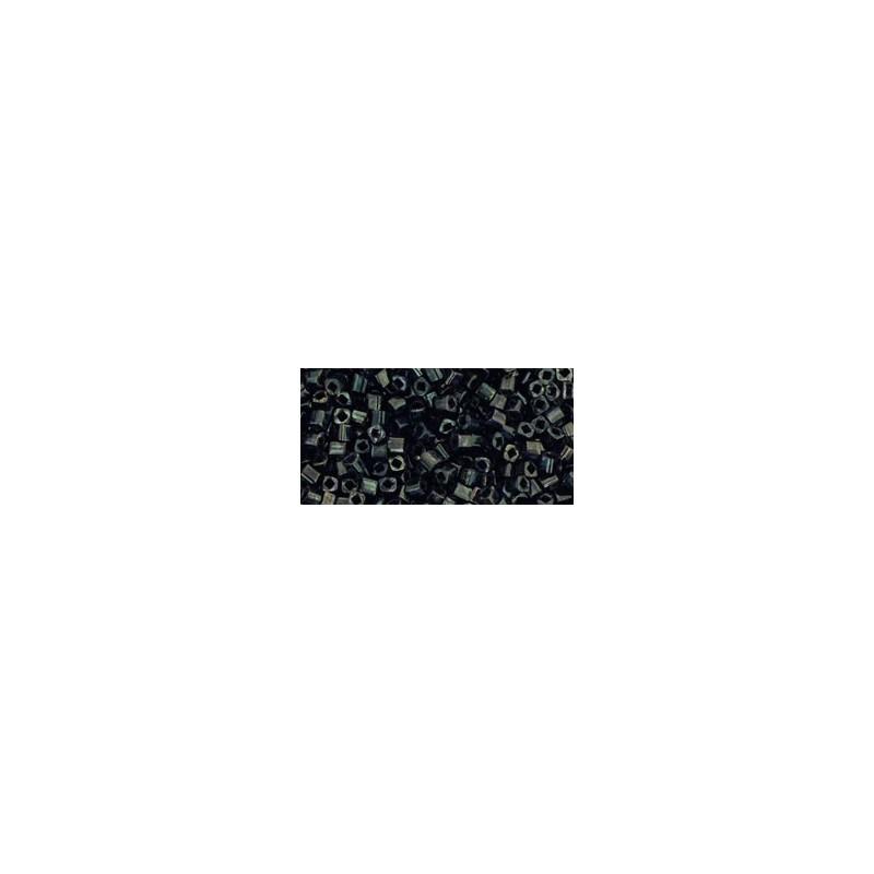TC-01-Y503 HYBRID Antiqued Metallic Black seed beads