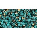 TC-01-Y857F HYBRID Frosted Turquoise Apollo seed beads