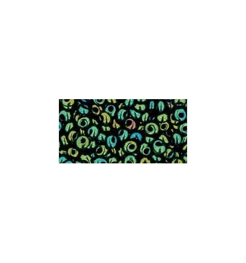 TM-03-84 Metallic Iris Green/Brown magatama