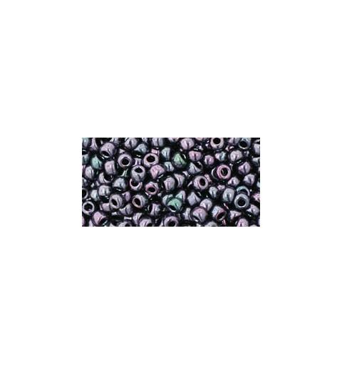 TR-08-90 Metallic - Amethyst Gun Metal Seed Beads