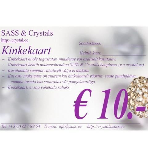 Kinkekaart 10 EUR
