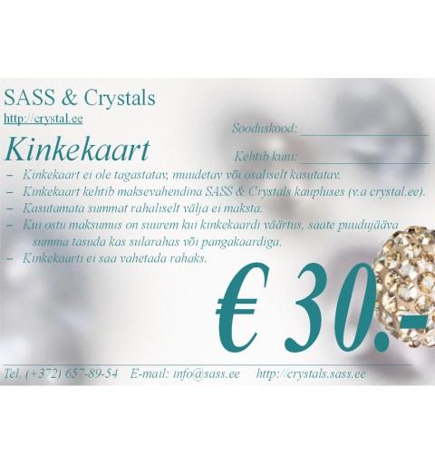 Gift voucher 30 EUR