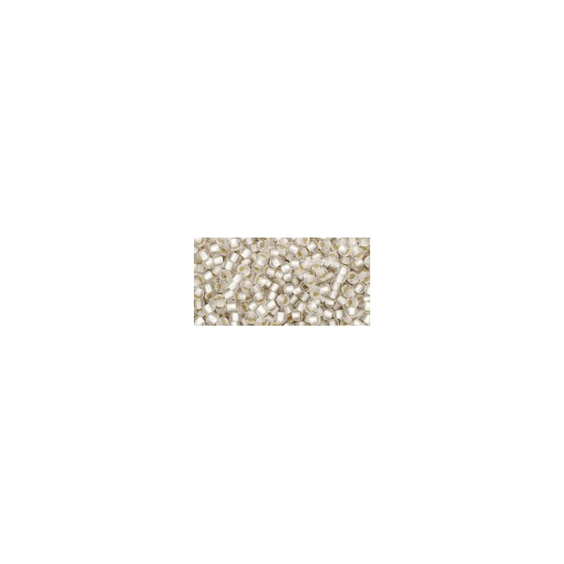 TR-11-21F Silver-Lined Frosted Crystal TOHO Seed Beads