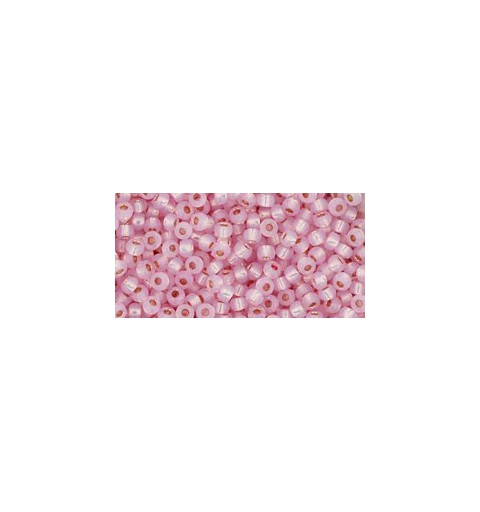 TR-11-PF2105 Permanent Finish - Silver-Lined Milky Baby Pink TOHO Seed Beads