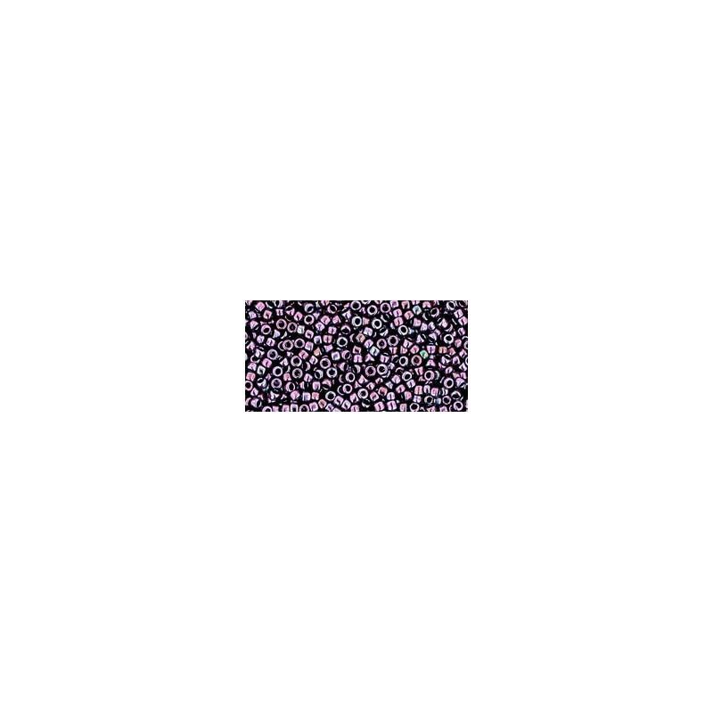 TR-15-90 Metallic - Amethyst Gun Metal Seed Beads