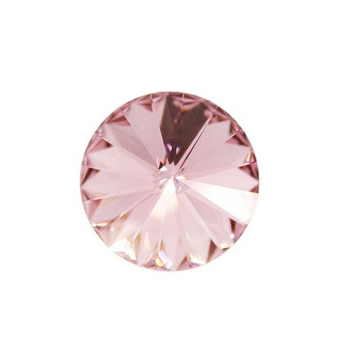 12MM Light Rose F (223) 1122 Rivoli Chaton SWAROVSKI ELEMENTS