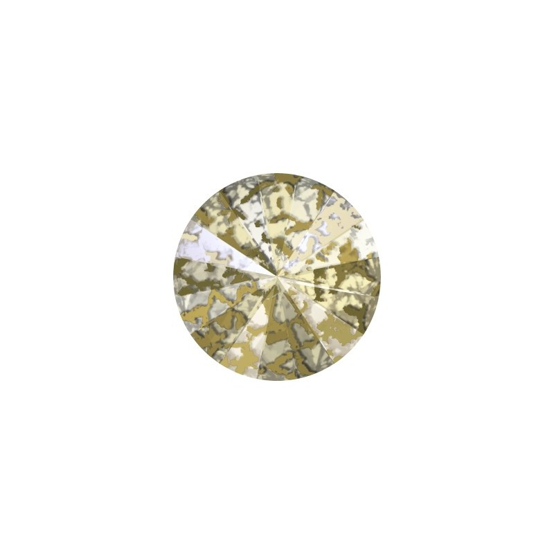 12MM Crystal Gold Patina F (001 GOLPA) 1122 Rivoli SWAROVSKI ELEMENTS