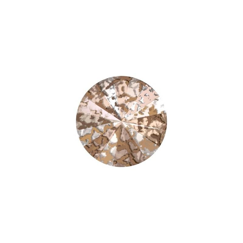 14MM Crystal Rose Patina F (001 ROSPA)  1122 Rivoli SWAROVSKI ELEMENTS