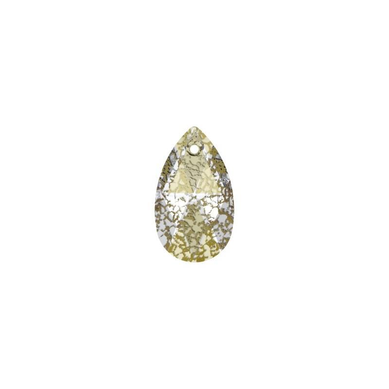 16MM Crystal Gold Patina (001 GOLPA) Pendants 6106 Pear-shaped SWAROVSKI ELEMENTS