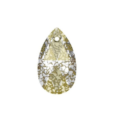 16MM Crystal Gold Patina (001 GOLPA) Ripats 6106 Pirni kujuline SWAROVSKI ELEMENTS