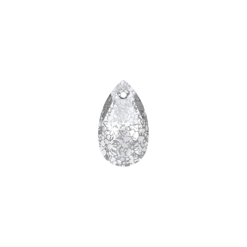 16MM Crystal Silver Patina (001 SILPA) Ripats 6106 Pirni kujuline SWAROVSKI ELEMENTS