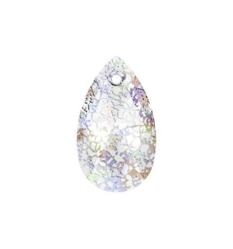 16MM Crystal White Patina (001 WHIPA) Pendants 6106 Pear-shaped SWAROVSKI ELEMENTS