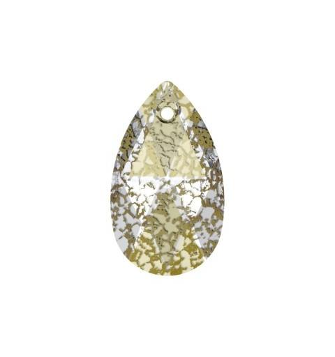 22MM Crystal Gold Patina (001 GOLPA) Pendants 6106 Pear-shaped SWAROVSKI ELEMENTS