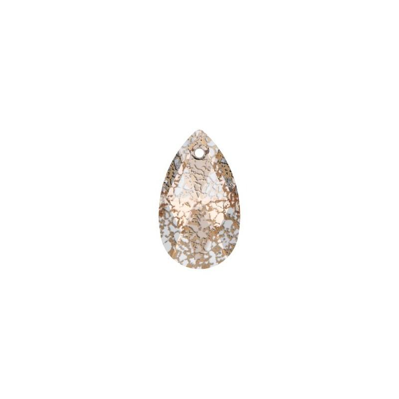 16MM Crystal Rose Patina (001 ROSPA) Pendants 6106 Pear-shaped SWAROVSKI ELEMENTS
