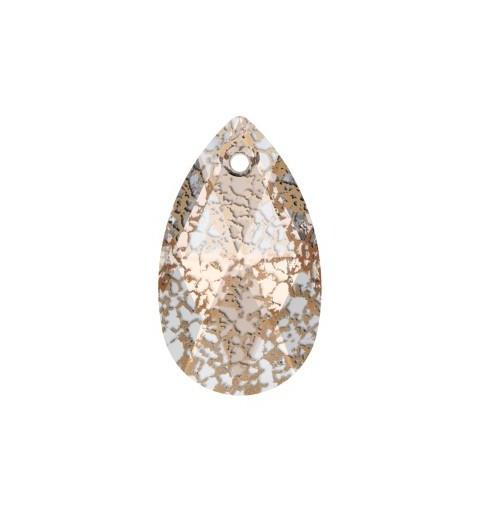 22MM Crystal Rose Patina (001 ROSPA) Pendants 6106 Pear-shaped SWAROVSKI ELEMENTS