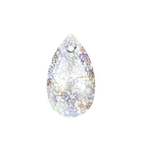22MM Crystal White Patina (001 WHIPA) Pendants 6106 Pear-shaped SWAROVSKI ELEMENTS
