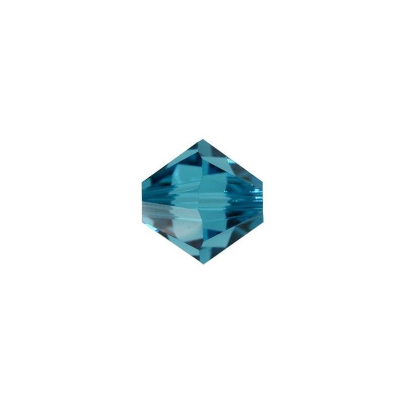 3MM Indicolite (379) 5328 XILION Bi-Cone Helmed SWAROVSKI ELEMENTS