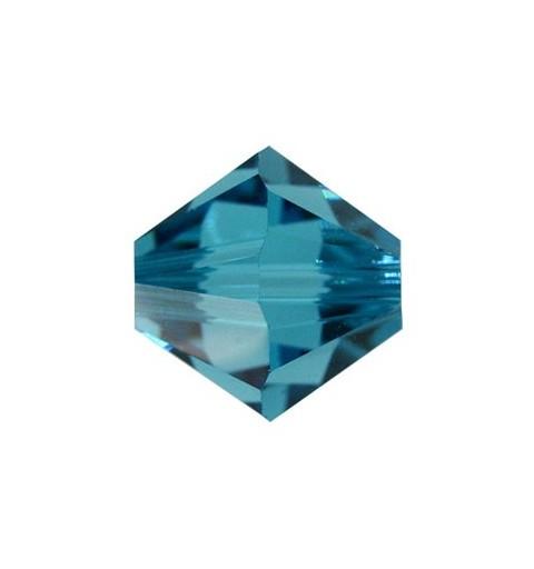 4MM Indicolite (379) 5328 XILION Bi-Cone Helmed SWAROVSKI ELEMENTS