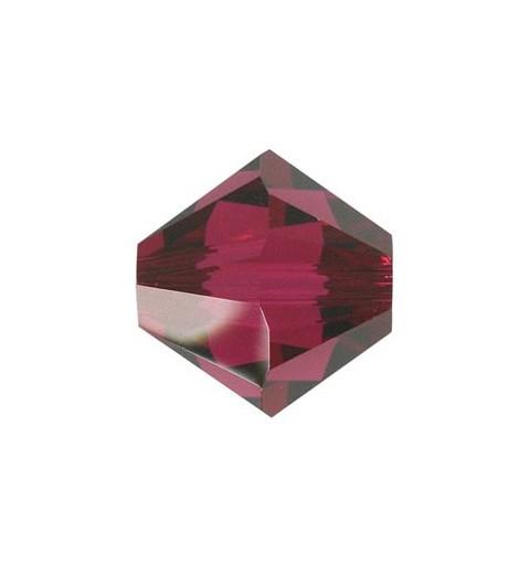 3MM Ruby (501) 5328 XILION Bi-Cone Beads SWAROVSKI ELEMENTS