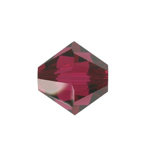 4MM Ruby (501) 5328 XILION Bi-Cone Beads SWAROVSKI ELEMENTS