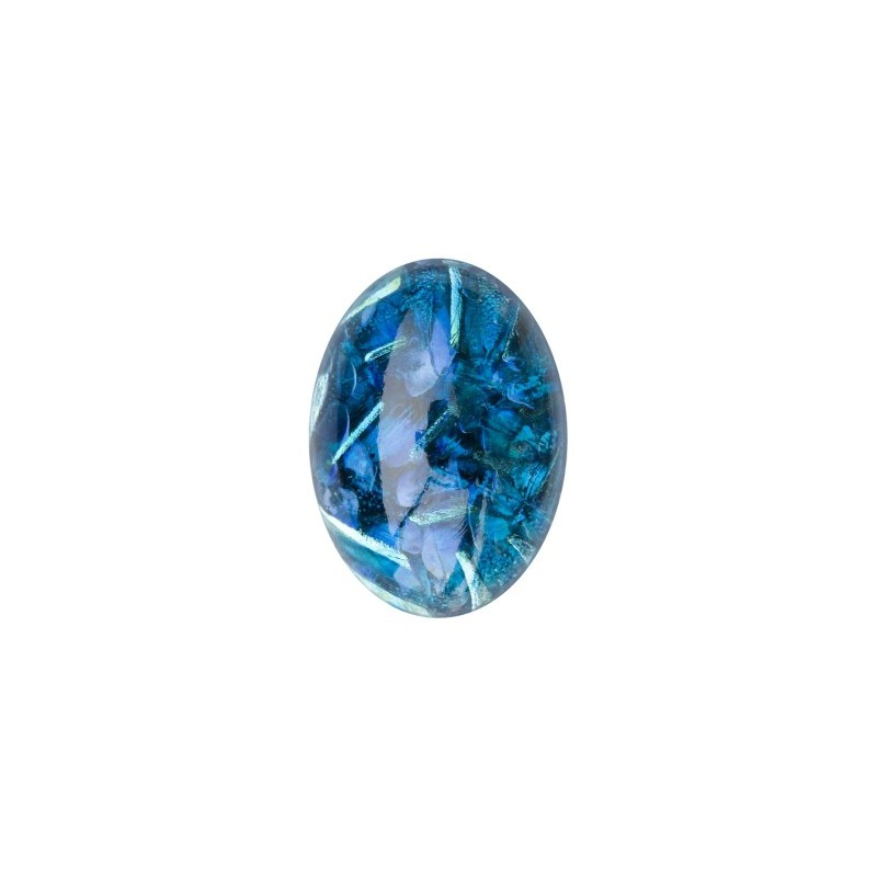 25x18mm Opaal Sapphire 02993 with Foiling 416-12-564 Cabochons Preciosa