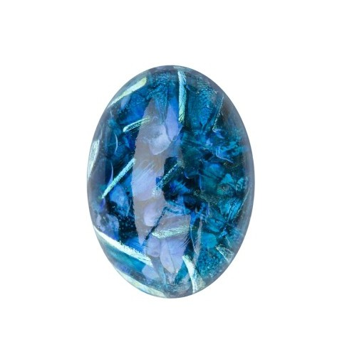 25x18mm Opal Sapphire 02993 with Foiling 416-12-564 Cabochons Preciosa